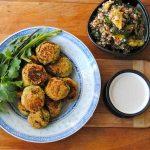 Falafels, sauce lime-tahini, salade quinoa, menthe et orange