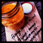 Potage tomate, mangue, pamplemousse et orange