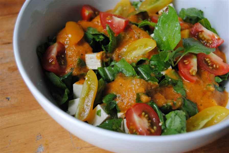 Roquette sauce tomate!