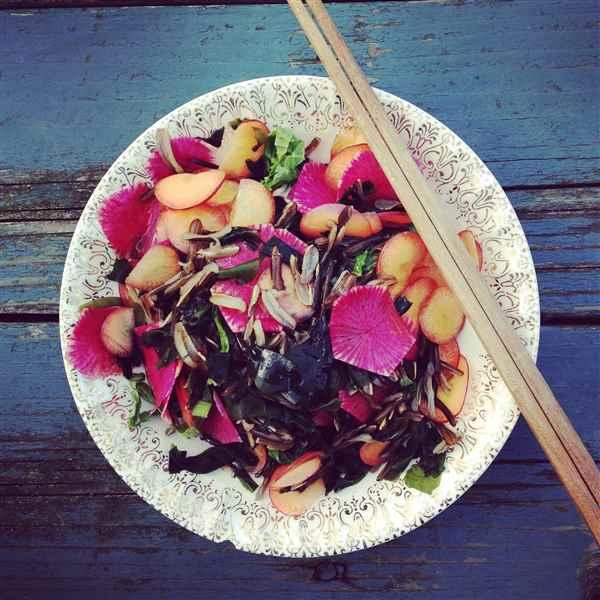 Salade zizanie (riz sauvage)