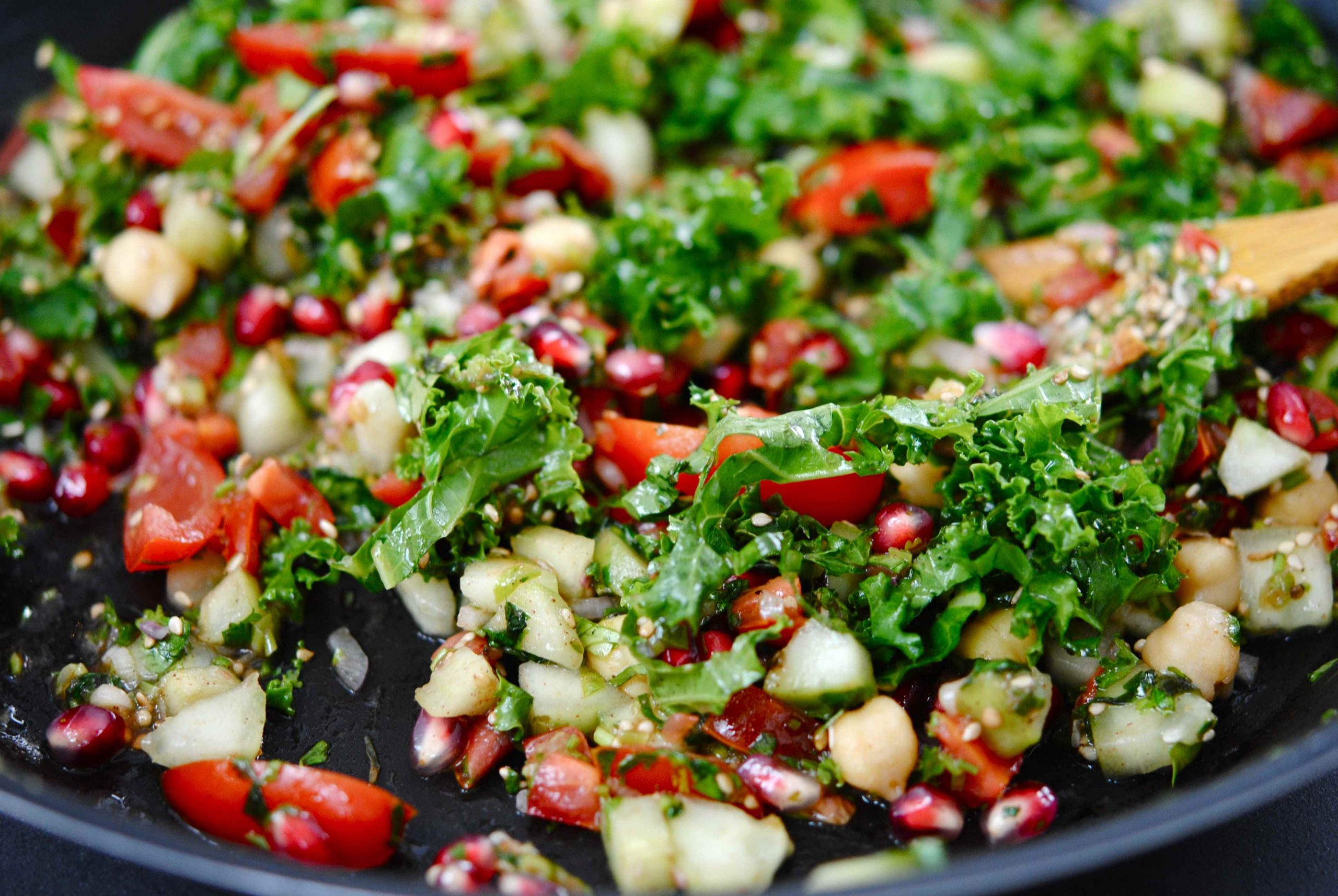 Pratique garniture: salade chana chaat