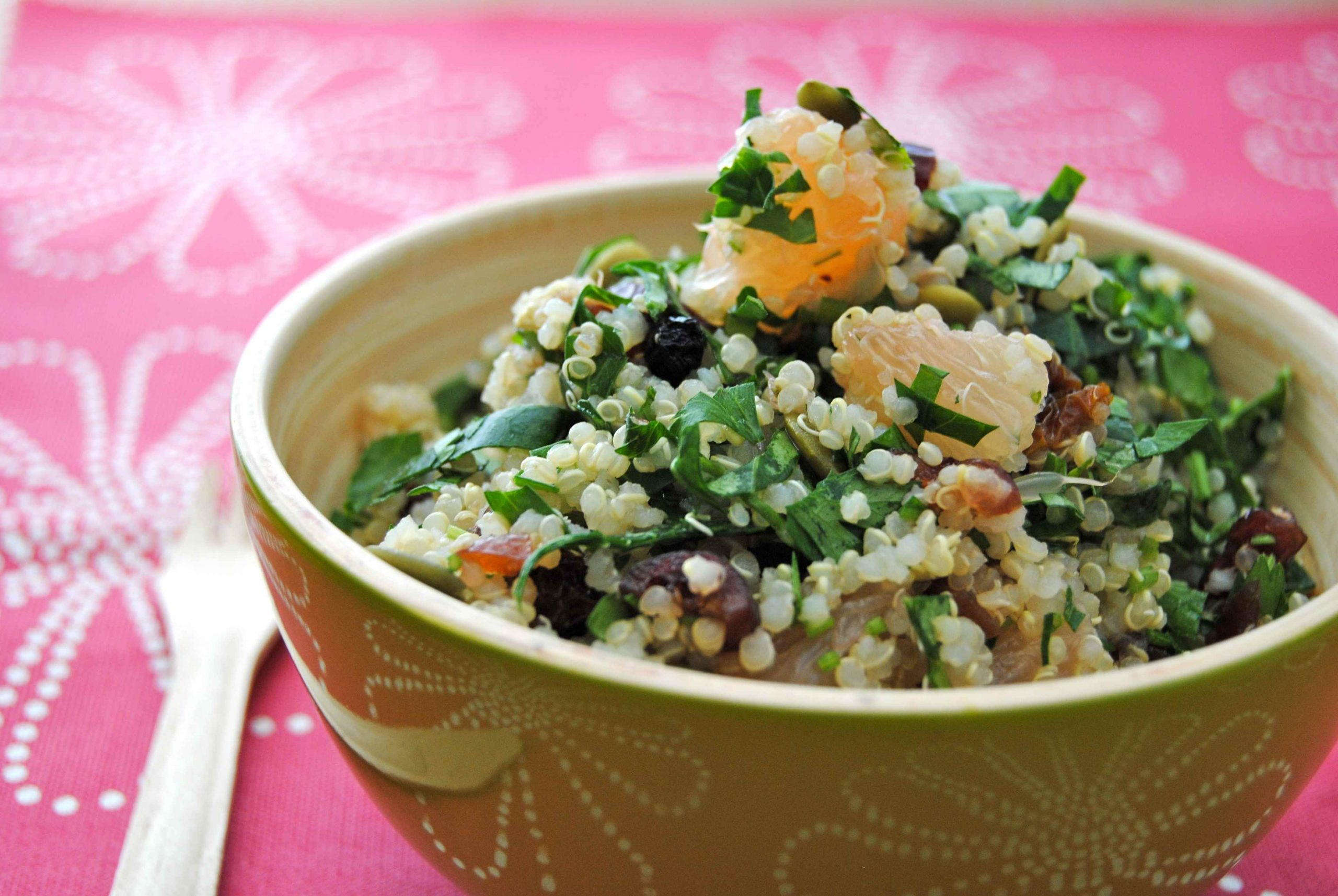 Salade de quinoa à déjeuner