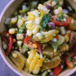 Salade de maïs sauce lime curucma